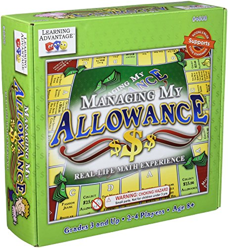 "Learning Advantage 4608 Managing My Allowance Game, Grade: 3, 8.5"" Height, 2.5"" Width, 9"" Length"
