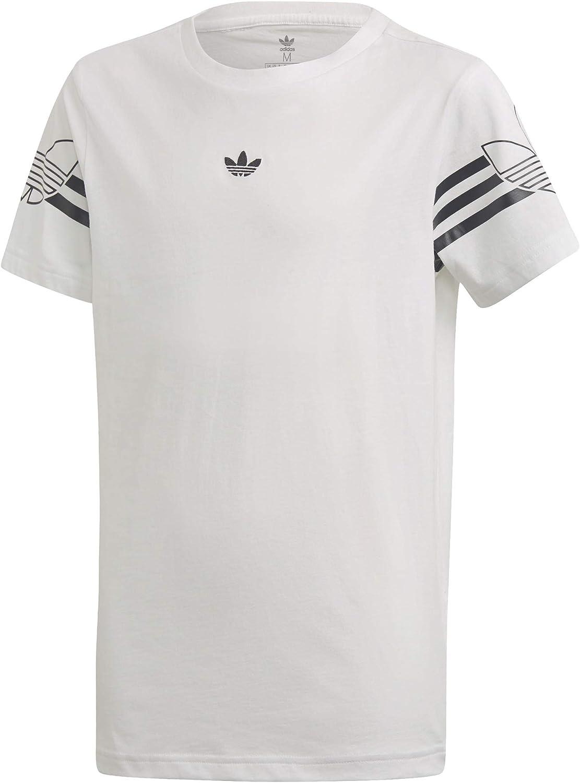 adidas Outline tee Camiseta de Manga Corta Ni/ños