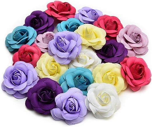 5 Pcs Rose Artificial Silk Flower Heads Wedding Home Decoration DIY Craft New