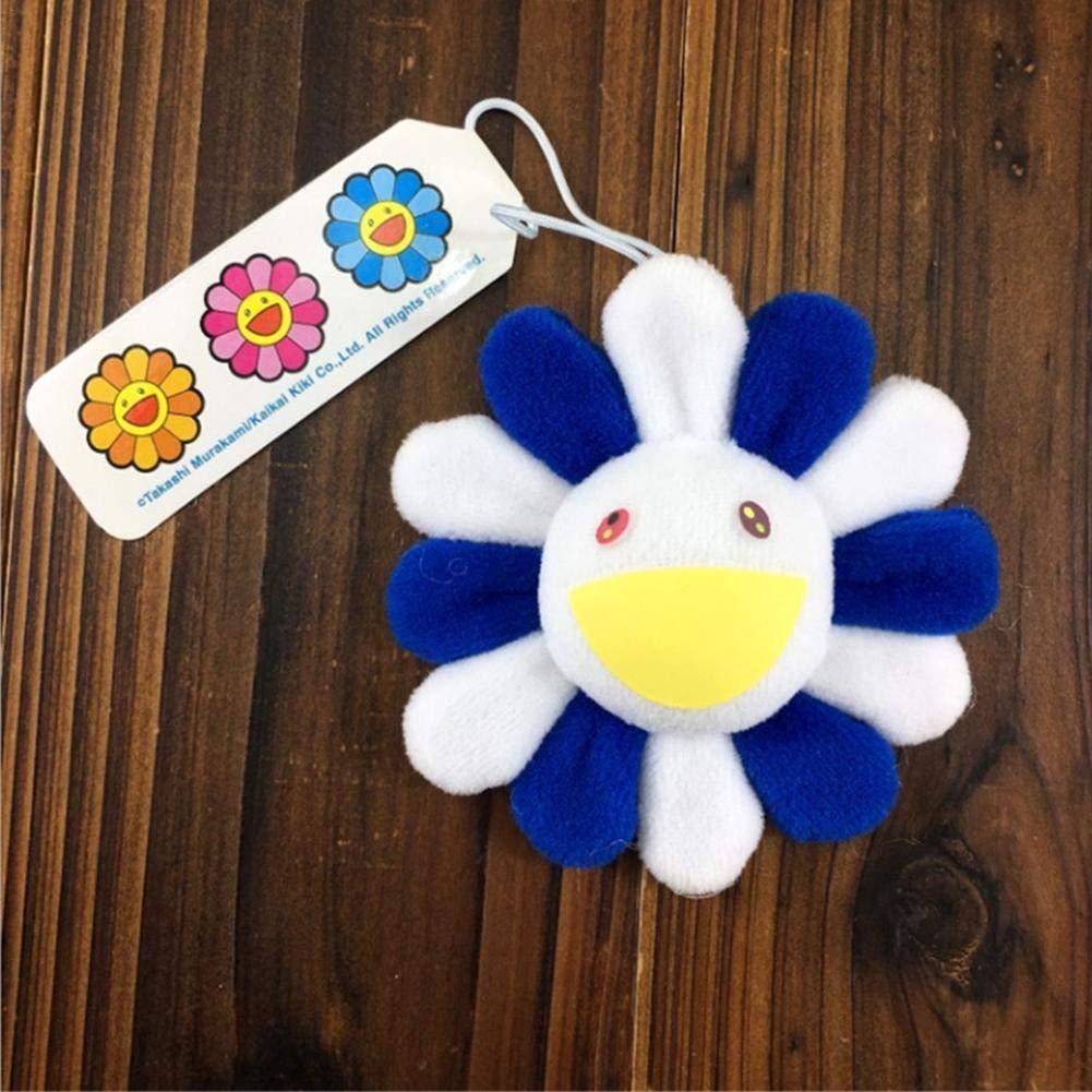 Minimew 10 Colors Murakami Classic Sun Flower Brooch Pins Rainbow Color Sunflower Doll Plush Brooch Phones Backpacks Keychain Hanging Pendant Decoration Toy