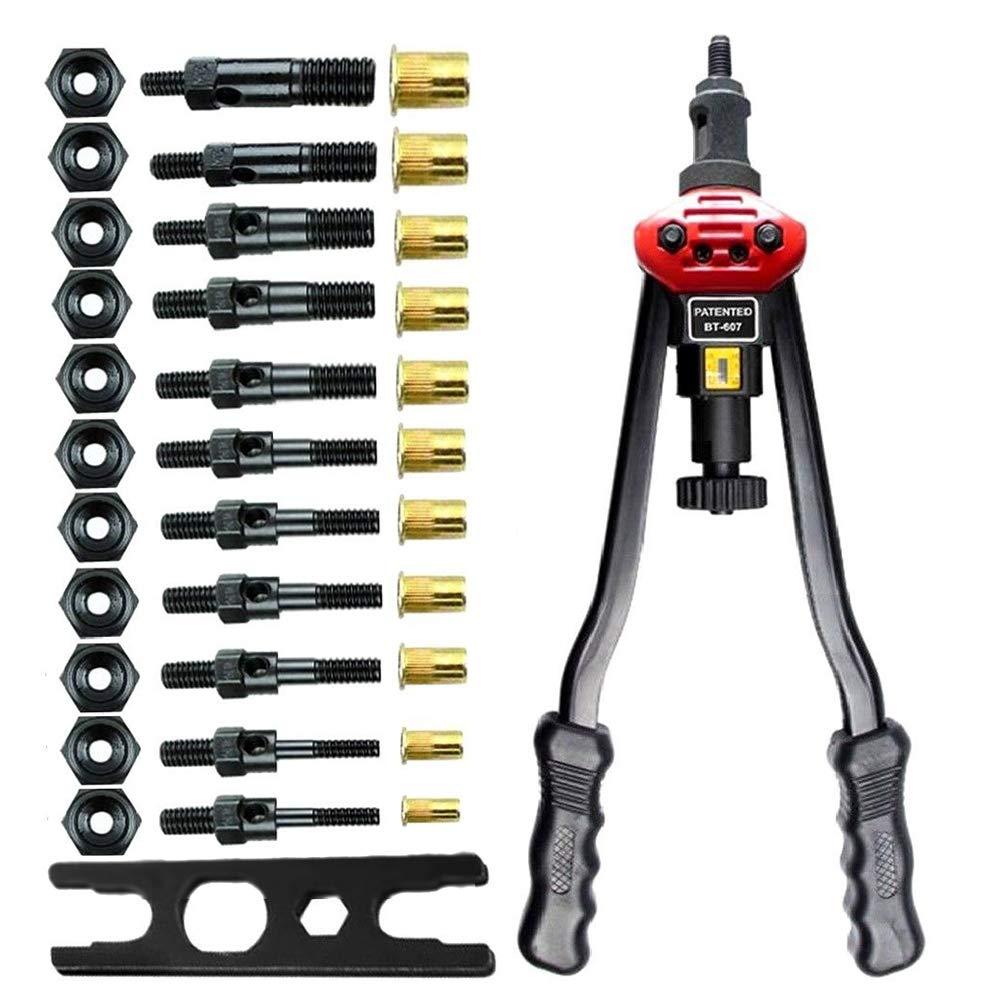 ZXMOTO Rivet Gun Kit 17'' Hand Rivet Nut Setter Kit Rivnut Setting Tools Nut Setter Tool Hand Blind Riveter Gun