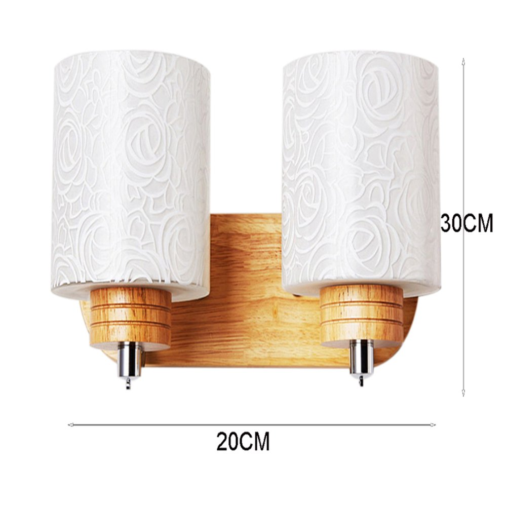 JiFengCheng Wood Wall lamp Bedroom Bedside Lamp E27 Modern Wall Sconce Bedroom Wall Lighting Contemporary lamp Wall HGSS-004-2 by JiFengCheng (Image #5)