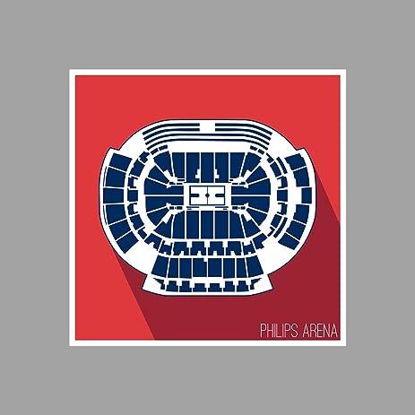 Amazon.com: Atlanta - Philips Arena - Basketball Seating Map - 36x36 ...