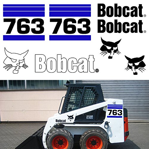 Bobcat 763 v2 Skid Steer Set Vinyl Decal ()