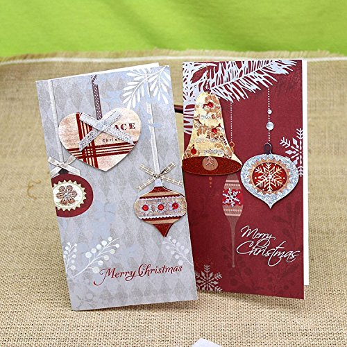 6pcs 3d Merry Christmas Card Blank Greeting Kids Gift Postcard Give To Your Sweetheart On Valentine's Day Or Wedding - Cards Printable Gift Canada