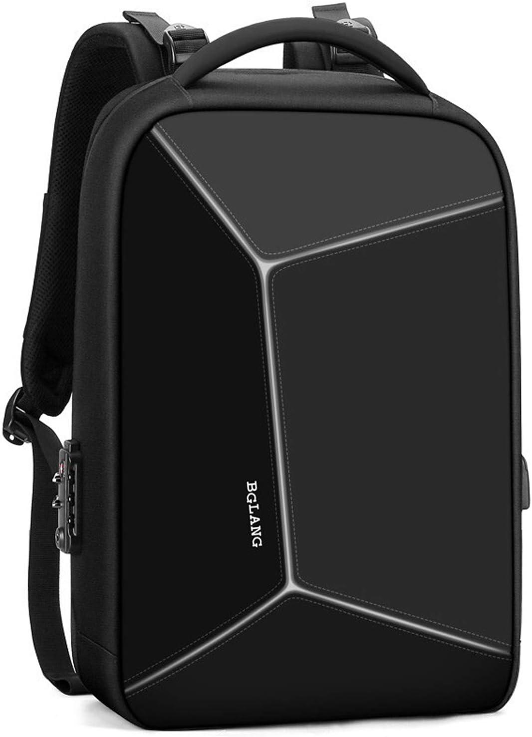 バックパック バッグ、男性用大容量バックパック、ビジネス用撥水トラベルナップザック、15.6インチタブレットコンパートメントリュックサックグレー/ブラックに最適 バッグ (Color : 黒) 黒