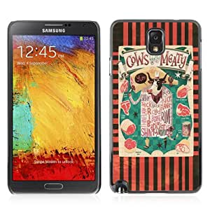YOYOSHOP [Funny Cows & Meat Illustration] Samsung Galaxy Note 3 Case