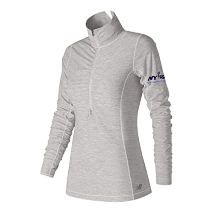 b5cde055ce202 Amazon.com: New Balance Women's in Transit Half Zip Shirt: Sports ...