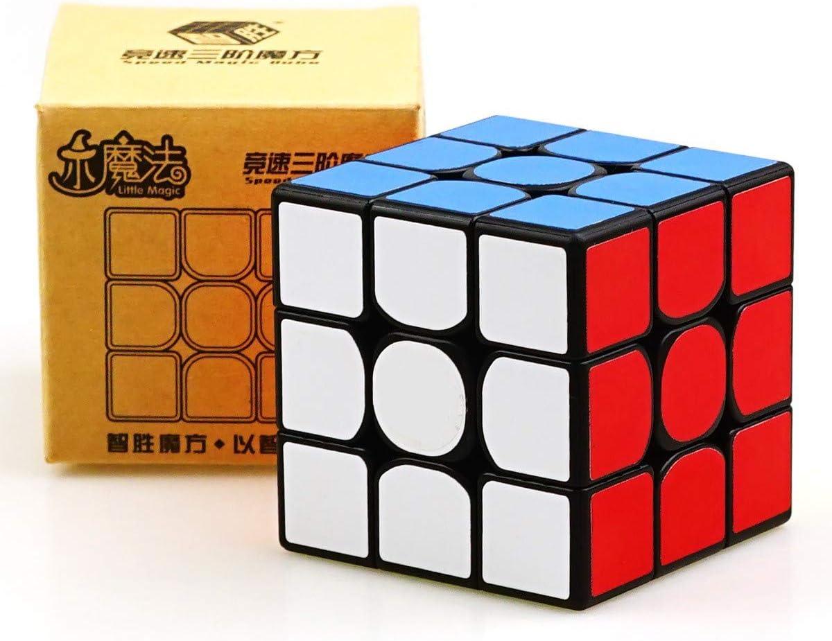 Noir Yuxin Little Magic 3x3x3 Vitesse Cube Magic Cube Lisse Rapide Twsit Puzzle Cube