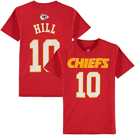 Outerstuff Tyreek Hill Kansas City Chiefs NFL Youth 8-20 Red Mainliner  Official Player Name b3e20ba4b