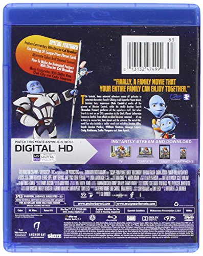 escape from planet earth bluray dvd digital ultraviolet