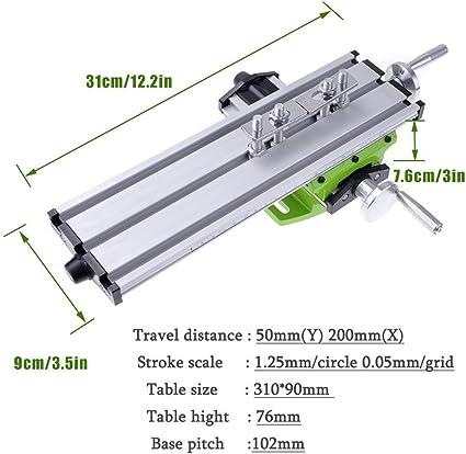 Fresadora Metal Fressadora de Mesa Coordenadas Multifunción de Aluminio: Amazon.es: Bricolaje y herramientas