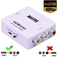 HDMI to RCA,HDMI to AV,1080P HDMI to 3RCA CVBs AV Composite Video Audio Converter Adapter Supports PAL/ NTSC for Amazon Fire TV Stick, Roku, Chromecast, Apple TV, PC, Laptop, Xbox, HDTV, DVD Etc
