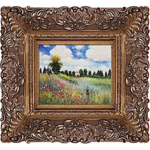 - overstockArt Poppy Field in Argenteuil Framed Original Oil Painting by Claude Monet
