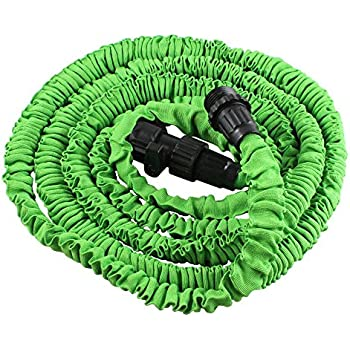 Perfect Fenzer 25 FT Expandable Flexible Garden Hose For Car Wash, Cleaning,  Watering Lawns, Gardening, Washing Dogs And Pets  Green