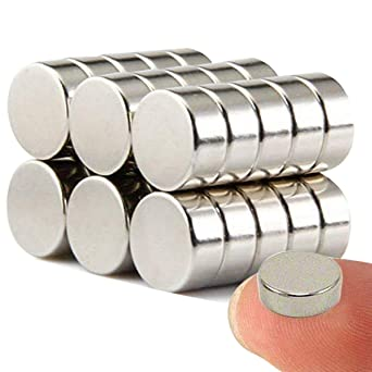 Wukong Imanes de nevera de cilindro de neodimio N52 (30 piezas) multiusos Junta de borrado en seco imanes imanes de oficina resistente imanes para nev