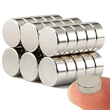 Wukong Imanes de nevera de cilindro de neodimio N52 (30 piezas) multiusos Junta de borrado en seco imanes imanes de oficina resistente imanes para ...