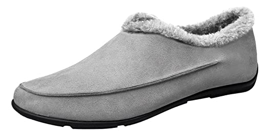0718 Mens Comfort Casual Loafers Slip-on Warm Wool Journey Sneakers