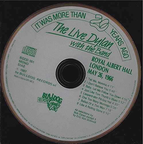 The Live Dylan with the Band Royal Albert Hall London May 26, 1966 Bulldog Records 1987 Fonitcetra Milano Italy Suze Rotolo RARE RARE RARE by Bulldog