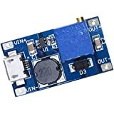 Yeeco 2577 DC DC Boost Converter Step-up Voltage Regulator Voltage Stabilizer Adjustable Power Supply DC 2-24V to 5V 9V 12V 24V 2A with Micro USB Input