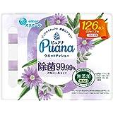 エリエール Puana(ピュアナ)【無添加】ウエットティシュー 除菌99.99%アルコールタイプ つめかえ用 126枚(42枚×3P)