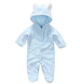 ac872d960262 Amazon.com  Yihaojia Winter Autumn Cotton Baby Pajamas Rompers ...
