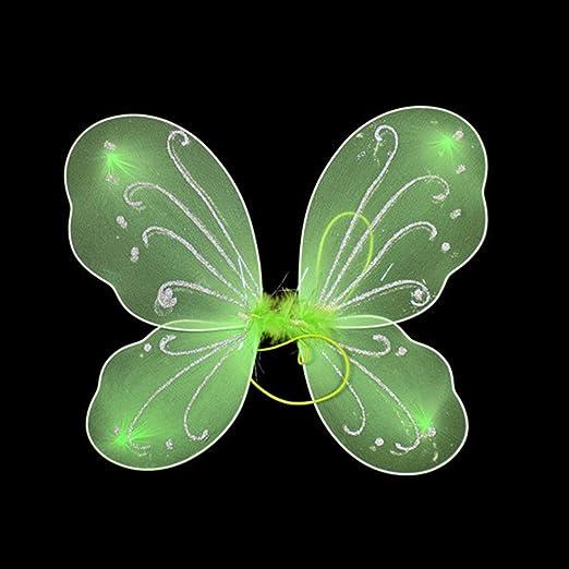 Disfraz de alas de mariposa coloridas para niñas, disfraz de ...