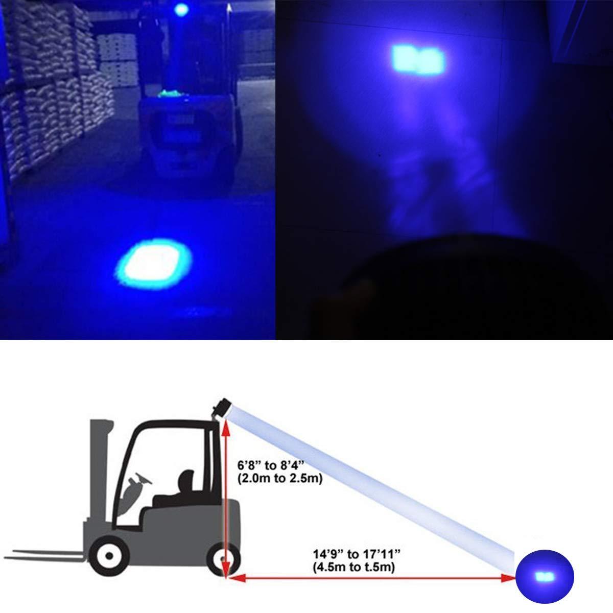 LY8 LED Forklift Safety Light Red Zone Light Warehouse Pedestrian Safe Warning Light 8W 10V-80V DC