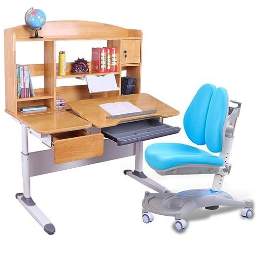 Set de escritorio y silla para niños Mesa de estudio para niños ...