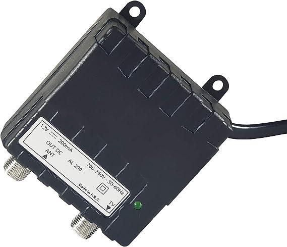 al-200 – Fuente de alimentación 12 V MA con una Salida para Amplificador Antena