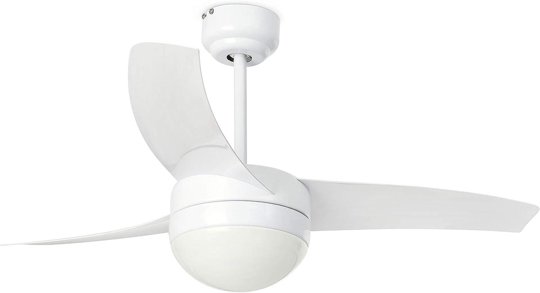 Faro Barcelona 33415 - EASY Ventilador de techo con luz, 15W ...