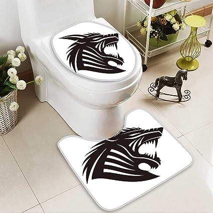 d67c2cced Amazon.com: Large Contour Mat vector sign werewolf Non-Slip Microfiber  Bathroom mat with Anti Skid: Home & Kitchen