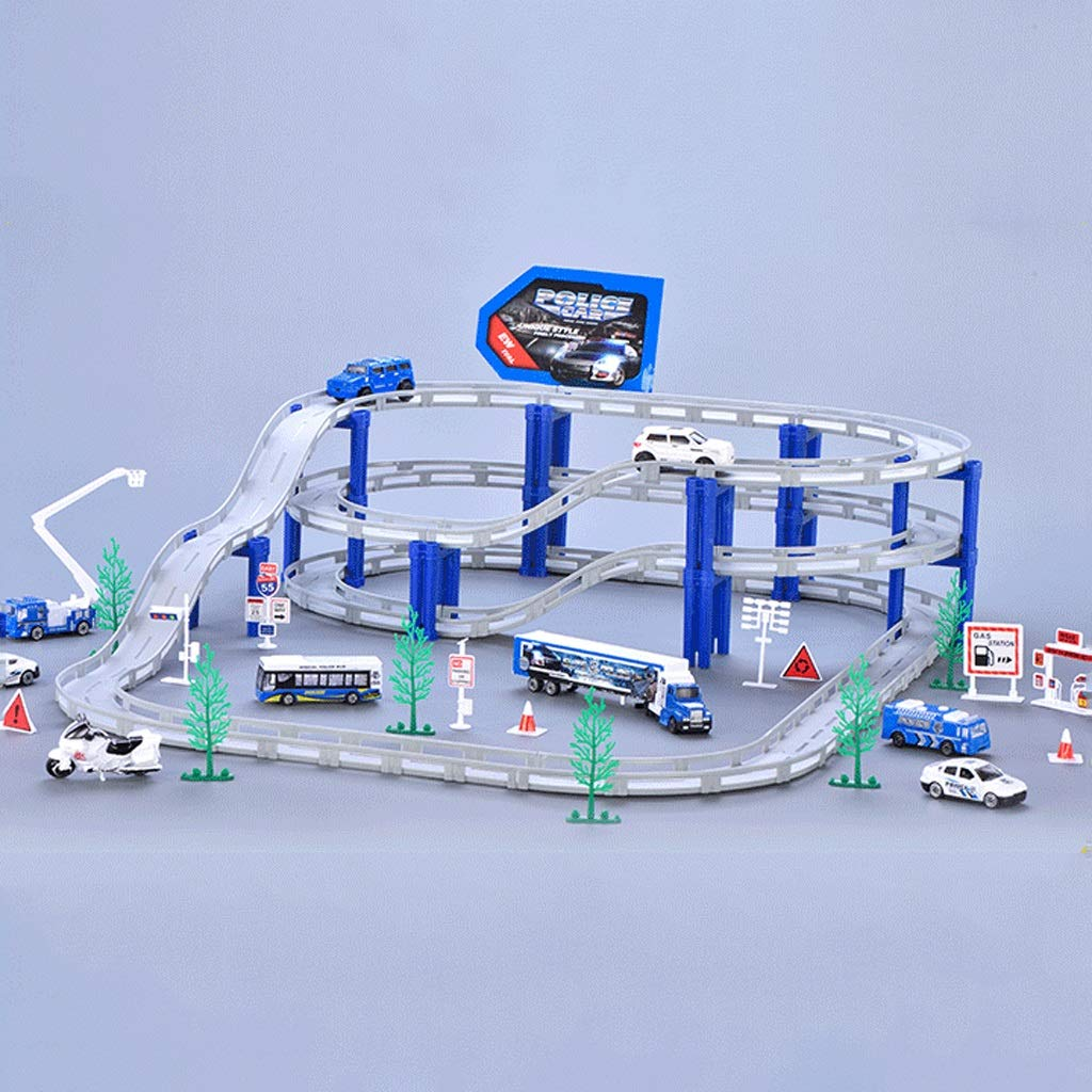 LINGLING-Track Track Toy Train Track Racing Children's Toy Boy Gift - Police Set (Size : L)