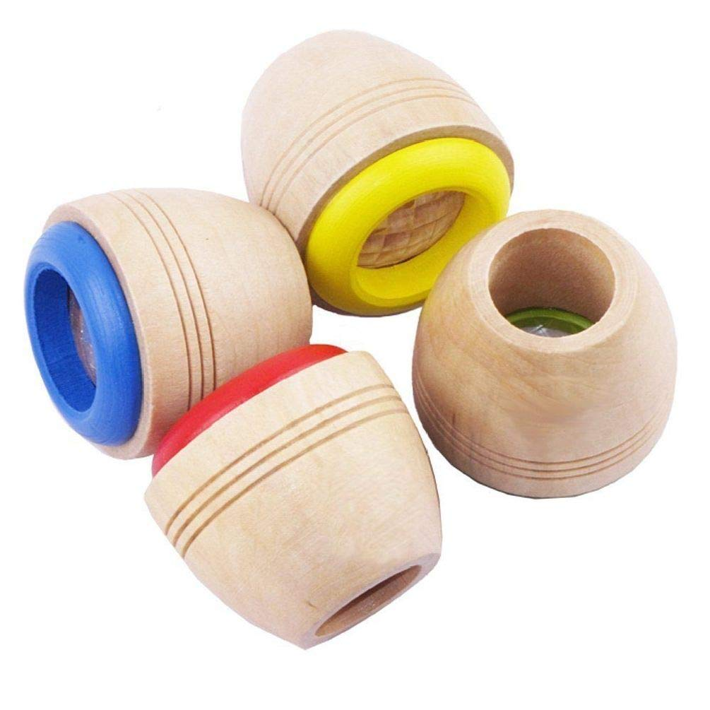 BlackC Home 2Pcs Wooden Magic Lens Kaleidoscope Children Classic Kids Toy Bee Eye Effect