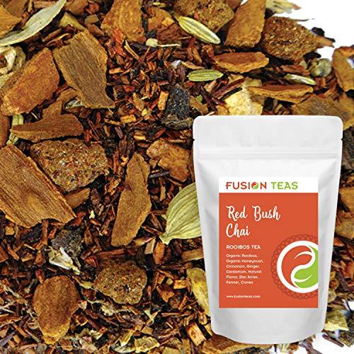 (Red Bush Chai - Loose Leaf Rooibos Herbal Tea - Fusion Teas 5oz Pouch)