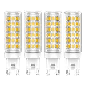 700lm Haute Bulb 76 2835leds G9 3000k Spotlight Led 4x Blanc Ampoule Smd Leds 240v Lampe Luminosité Ac220 Chaud Lumiere 9w T13JcuFlK