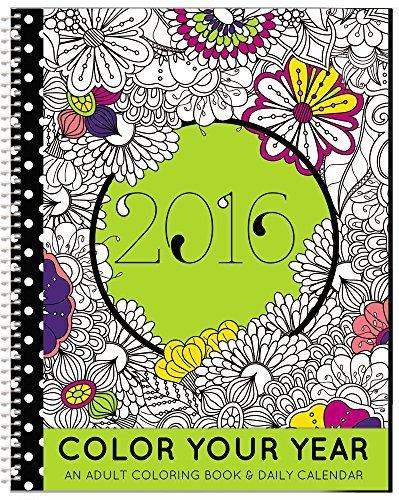 2016Last Years Calendar   Adult Coloring Planner   Designer Organizer 8 5  X 11  Planning Calendar And Coloring Book