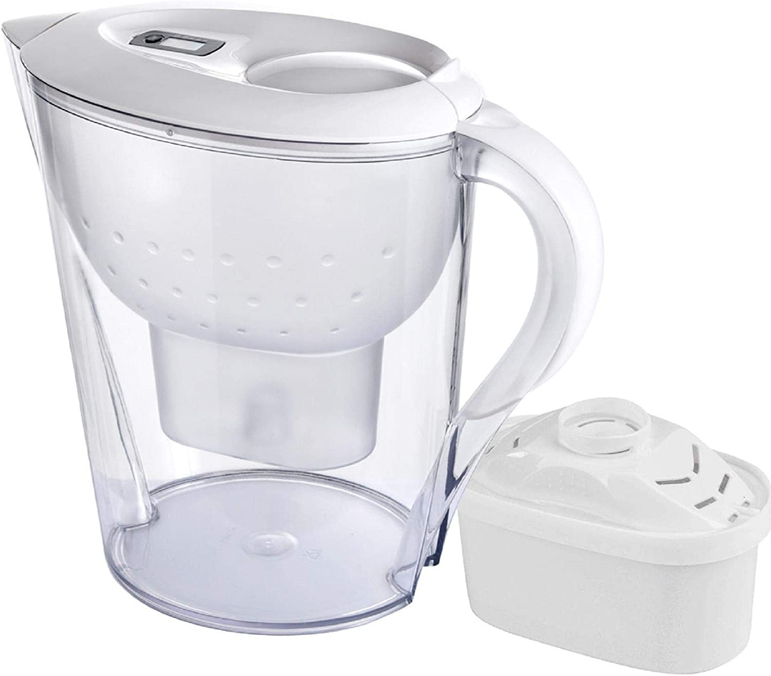Vertily Water Filter Pitcher,Premium Alkaline Water Pitcher,3.5L Pure Healthy Water Ionizer Activated Carbon Filter,Household Kitchen Activated Carbon Filter Kettle