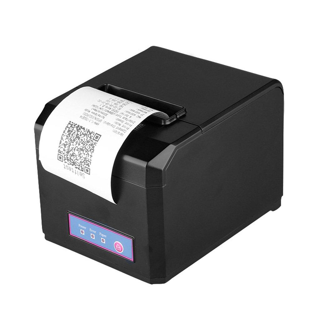 Excelvan - Impresora té rmica de recibos, 300 mm./segundo, 80 mm. de anchura má xima, Auto-Cut, corte automá tico, POS, USB Ethernet Serial Port, color negro, EU HOP-E801-E