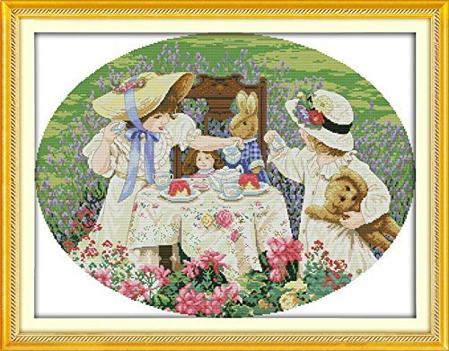 Counted Cross Stitch Kits The Afternoon Tea In the Suburbs 1
