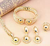 Product review for African Costume Necklace Set Party Fashion Women Gold Plated Jewelry Sets