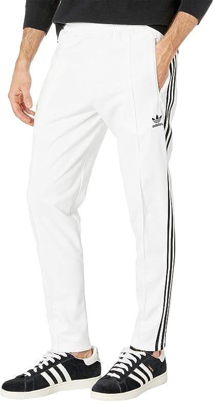 adidas beckenbauer grey classic track pants