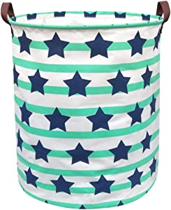 BOOHIT Cotton Fabric Storage Bin,Collapsible Laundry Basket-Waterproof Large Storage Baskets,Toy Organizer,Home Decor (Pentagrams)
