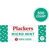 Plackers Individually Wrapped Micro Mint Dental Floss Picks 500 Count