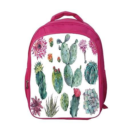 0865e7fc5ebd iPrint School Bags Kid's Backpacks Custom,Nature Decor,Desert Botanic  Herbal Cartoon Like Cactus