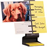 NoteTower Desktop Mini Black - Sticky Note Organizer and Paper Holder - Holds and Displays Photos, Sticky Notes and Business Cards + Bonus 50 Sheet 3x3 Sticky Note Pad