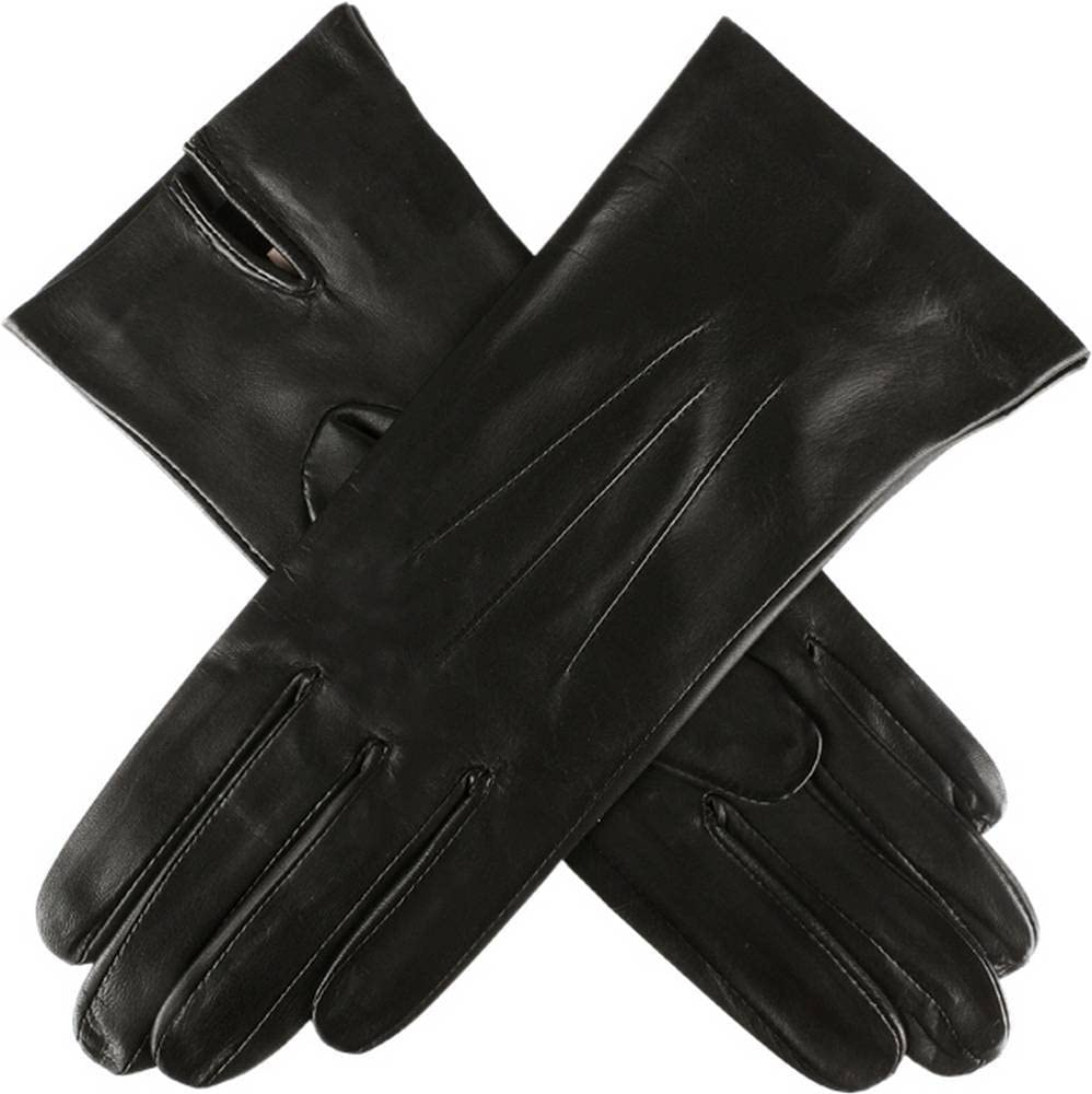 Black Dents Womens Joanna Classic Unlined Hairsheep Leather Gloves Small