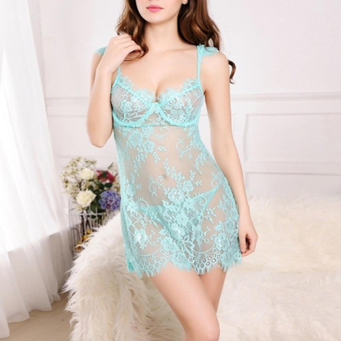 Gaddrt Sexy Mujer Babydoll Ropa de Dormir Pijamas tentación ropa interior sexy lencería, azul claro, Small: Amazon.es: Deportes y aire libre