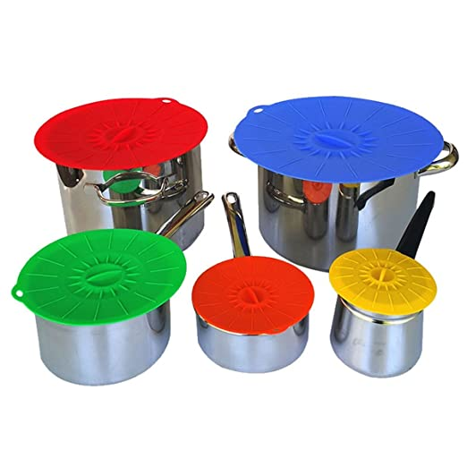 VANNGROUP - Funda de silicona para microondas (5 piezas/juego de ...