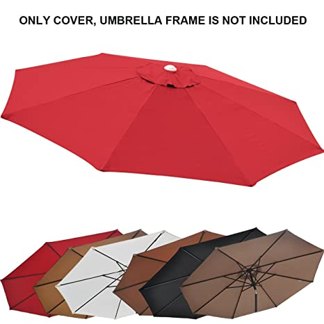 Genial Replacement Patio Umbrella Canopy Cover For 9ft 8 Ribs Umbrella Burgundy ( CANOPY ONLY)